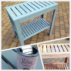 Old #garden plant #table, got a new look with #vintage matt #furniture paint and wax.