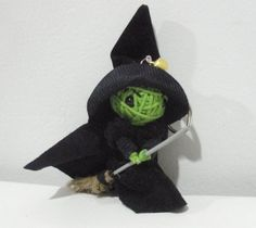 Wick Witch String doll Voodoo doll keychain/ free shipping via Etsy