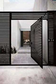 Door designs: 40 modern doors perfect for every home - Architecture Beast Fence Design, Door Design, House Design, Entrance Design, Front Gates, Entrance Gates, Main Entrance, Design Exterior, Interior And Exterior