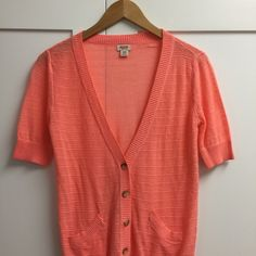(NWOT) Coral Button Down Cardigan Never worn. Short sleeve button down cardigan. Mossimo Supply Co Sweaters Cardigans
