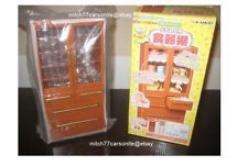Re-Ment Brown Cabinet Hutch, for 1:6 scale Barbie sized kitchen dollhouse