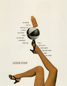 Paul Rand ::: Advertisement for Jacqueline Cochran cosmetics designed by Paul Rand (Courtesy of Steven Heller)