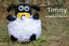 After making Pom-pom Shaun The Sheep and Shirley Earmuffs, here is the free Baby Sheep Timmy amigurumi pattern. Timmy is sucking a pacifier.