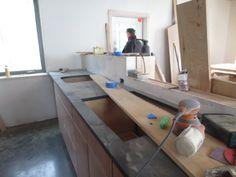 Richlite kitchen counter. Check it out - it's paper!