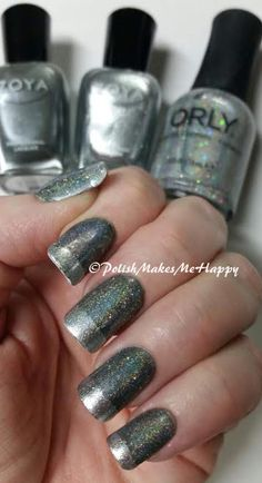 """I put this together using Zoya Nail Polish and Treatments """"Tao"""" as a base and Zoya """"Trixie"""" on the tips. To pull it together I did one thin coat of Orly Nail Polish """"Mirrorball"""". The holo-y goodness of Mirrorball was hard for me to capture, but it's pretty awesome!! smile emoticon #prettynails #notd  Like ✔ Comment ✔ Share ✔ Tag ✔ Get Notifications"""