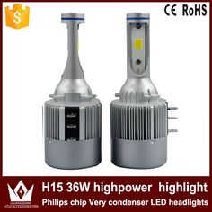 46.63$  Watch here - http://alia5v.shopchina.info/go.php?t=32679111954 - Cheetah car led light Headlight Head lamp Bulb Auto CAR LED c6  h15 12V-24V 36W 6000K white 46.63$ #buychinaproducts