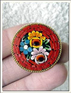 1940s-ITALIAN-COLORFUL-FLOWERS-MICRO-MOSAIC-BROOCH-VISIT-MY-STORE