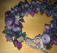 Mardi Gras Garden Trellis Bracelet