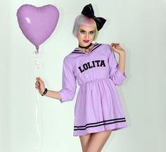 LOLITA | Lavender Anime Sailor Dress // Free Shipping!