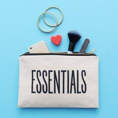 I've just found 'Essentials' Canvas Pouch. A super handy pouch from Alphabet Bags, perfect for stashing all of your essentials.. £18.00
