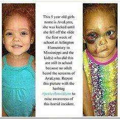 Whats wrong with the world #justiceforavalyn , this is so messed up. WHY Do People Have To Be THIS way, SHE Is innocent.