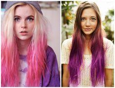 cabelos coloridos giz pastel