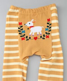Look what I found on #zulily! Yellow Stripe Sheep Pants - Infant by Giggle Buns #zulilyfinds