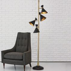THE WELL APPOINTED HOUSE - Luxury Home Decor- Multi Cone Floor Lamp