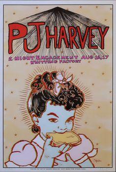 PJ Harvey. Grealish gig poster. Signed/Numbered. Mint. 2004.