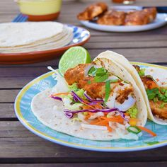 Surprisingly tasty and filling fish tacos for dinner! I loved the spices used on the fish - cumin and smoked paprika (one of my favourites). Fish Tacos, Smoked Paprika, Spices, Tasty, Sugar, Dinner, Ethnic Recipes, Food, Dining