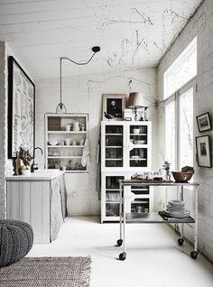 [Interior] Mini estudio en blanco vintage   Decoración