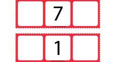 He preparado estos tableros para jugar con el número anterior y posterior. Se pueden imprimir a este tamaño y sería conveniente que se plas... Counting Activities, Activities For Kids, Numero Anterior Y Posterior, Math For Kids, Math Centers, Worksheets, Homeschool, Minnie Mouse, Finance Tips