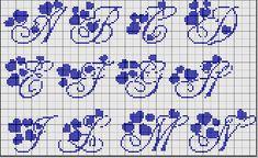 punto croce lettere asciugamani - Cerca con Google