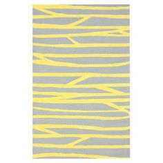 Hand-hooked wool and cotton rug with an abstract motif.  Product: RugConstruction Material: Wool and cottonColor: YellowFeatures: Hand-hooked Note: Please be aware that actual colors may vary from those shown on your screen. Accent rugs may also not show the entire pattern that the corresponding area rugs have.