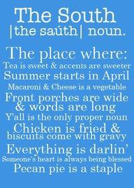 the south, true story!