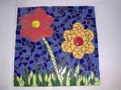 double flower ceramic mosaic paver