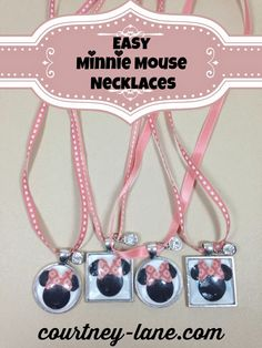 Easy Minnie Mouse Necklaces