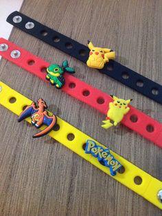 Pokemon Charm Bracelets PARTY FAVORS by SuperMommyShop on Etsy