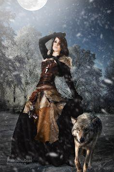 J'ai beaucoup aimé le cosplay de Link , place à un cosplay vraiment travaillé (aussi bien tenue que photo). Je ne savais pas comment l'appeler alors je l'ai nommée femme loup : Comment trouvez-vous cette photo ? Je trouve le cosplay très beau mais le fait d'avoir trop travaillé la photo enlève du charme . #cosplay #costume
