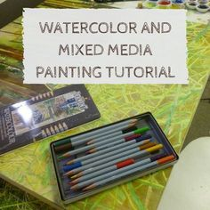 watercolor and mixed media painting tutorial on ARTiful painting demos by Sandrine Pelissier