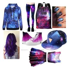 """""""Galaxy"""" by punkie707 ❤ liked on Polyvore featuring JanSport"""