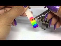 Easy Neon Rainbow Gradient Dotty Nail Art! | Magpie Neon pigments & Gel II | REQUESTED - YouTube