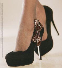 Every woman needs a sharp pair of heels.(;