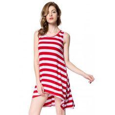 Vestido Dress Raya Sin mangas Vestido de playa Rojo