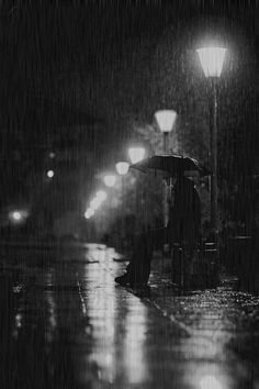 """""""I love walking in the rain because no one can see me crying"""" ~ Rowan Atkinson Rainy Night, Rainy Days, Alone Man, Riddles To Solve, Rain Pictures, Smell Of Rain, Walking In The Rain, Slice Of Life, Old Postcards"""