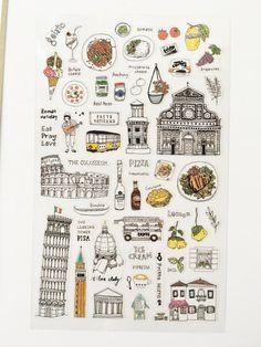 Roman Holiday Stickers Sheet // Erin Condren Planner Stickers // Scrapbooking embellishment // DIY essentials