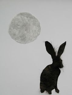 Furry moon, graphite, paper & faux fur Graphite, Faux Fur, Walls, Moon, Celestial, Drawings, Paper, Creative, Prints
