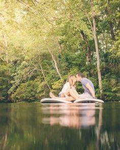 Engagement Photography Inspiration: Paddle Board Engagement (Photo by Chris Glenn via Magnolia Rouge)