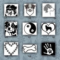 AUSTRALIAN SHEPHERD vinyl decals - 37-45 - custom vinyl stickers - dog stickers…