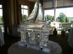 Sailboat Ice Sculpture #artisanicesculptures.com