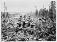In 1942, Alaska Highway crews met up in the Yukon, meaning for the first time Alaska was road-accessible.