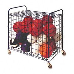 Lockable Ball Storage Cart, 24-Ball Capacity, Black by Champion Sports Products. $233.94. Champion Sports - Lockable Ball Storage Cart, 24-Ball Capacity, Black - Sold As 1 EachPortable all-steel unit holds up to 24 basketballs, soccer balls or playground balls. Lockable hinged cover. Color(s): Black; Width: N/A; Depth: N/A; Height: N/A.Portable all-steel unit holds up to 24 basketballs, soccer balls or playground balls.Lockable hinged cover.. Save 34%!