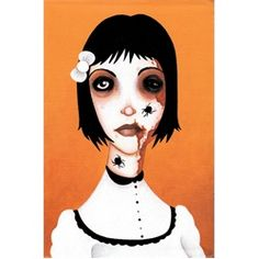 Itsy Bitsy by Ally Burke Tattoo Art Canvas Print. Ally L. Burke is an artist ne'er-do-well and English major currently residing in a backwoods borough somewhere in the southeast. She enjoys tea, death lore, and weird bits of history.