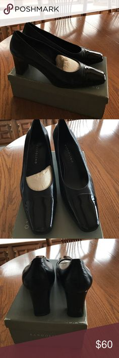 Bandolino pumps Black leather/patent toe pumps! Great condition!  Beautiful leather!  3 inch heel New condition! Bandolino Shoes Heels