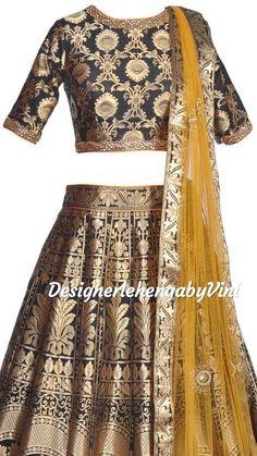 Brocade Lehenga, Banarasi Lehenga, Cape Lengha, Lehenga Skirt, Silk Dupatta, Pakistani Dresses, Indian Dresses, Indian Outfits, Indian Clothes