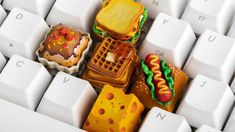 Do you know the keys on your keyboard like its the back of your hand and you are kinda board with those mundane looking keycaps? Keyboard Keys, Computer Keyboard, Waffle Toppings, Gaming Room Setup, Kawaii Room, Key Caps, Good Enough To Eat, E Design, Design Room