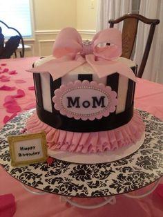 Mom's Birthday cake - by DeliciousCreations @ CakesDecor.com - cake decorating website