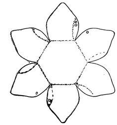 cartamodello del cestino a forma di fiore ...cartamodello trovato sul web