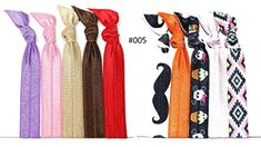10Piece Hair Ties  ACCU Custermized Collections with Solid Colors and Printed Patterns 005 >>> Visit the image link more details.(This is an Amazon affiliate link and I receive a commission for the sales)