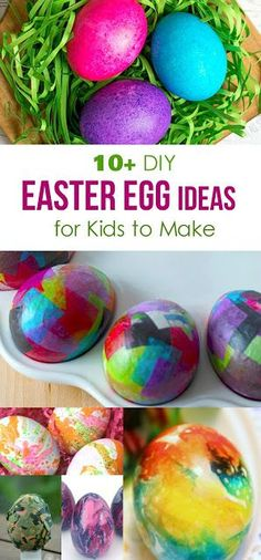 These Easter egg dye ideas and crafts are just too cute and I couldn't resist showing them off to you! I hope you'll find an inspiration for your Easter celebration here. Kids will love it! #easter #eastereggs #eastercrafts  #holidays #diy #diyproject #easterforkids #kidscrafts